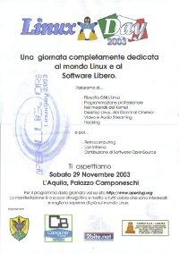 Locandina LinuxDay2003