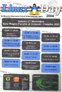 Locandina LinuxDay2004